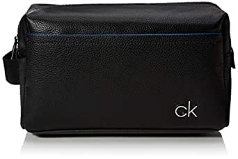 Calvin Klein Men's Direct Washbag Direct Washbag, Black, One Size