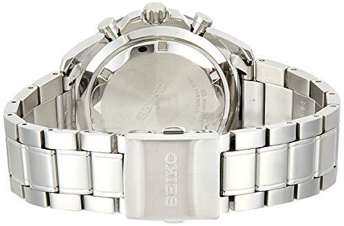 Seiko herr Chronograph kvartsur med rostfritt stål armband SSB303P1