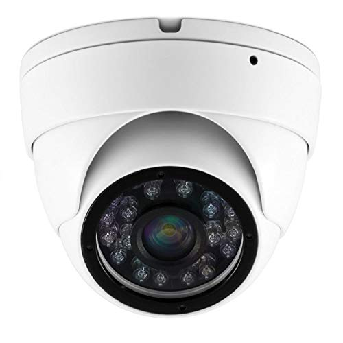 Xgigcam CCTV Camera HD 1080P 4-in-1 (TVI/AHD/CVI/960H CVBS) Security Dome Camera, Aluminum Housing 3.6mm Lens, Day & Night Monitoring IP66 (White)