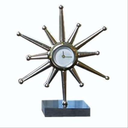 Amazon.com: Mid Century Modern Star Burst Desk Clock   10.5 ...