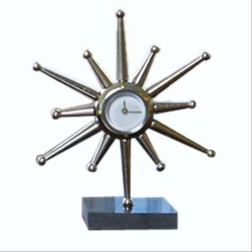 Mid Century Modern Star Burst Desk Clock   10.5