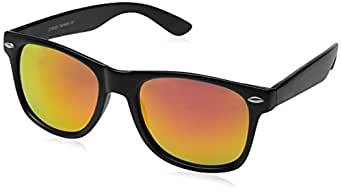 zeroUV ZV-8025-02 Wayfarer Sunglasses, Black, 58 mm