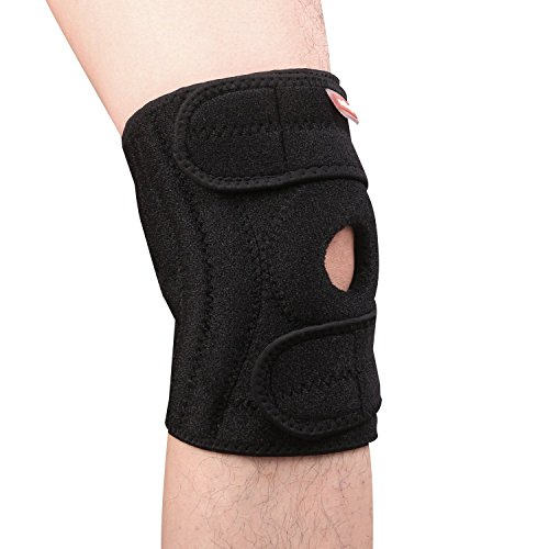 Akface No-slip Silicone Knee Support Brace with Basic Ope...