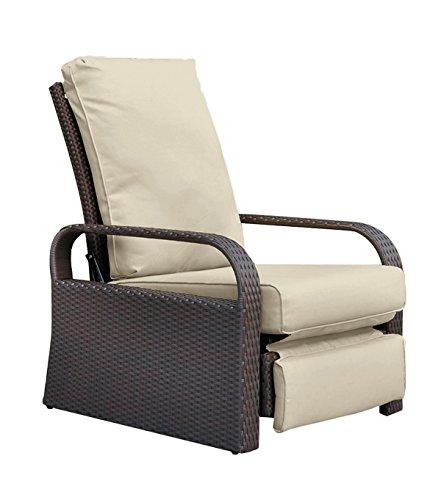 Babylon Dual Use Outdoor Wicker Adjustable Recliner Chair