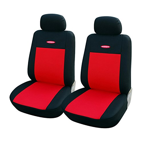 Universal 2pcs Red Car Seat Covers Fit Polyester 3MM Composite Sponge Car Styling Lada Car Covers - Mall Bluffton Sc Outlet