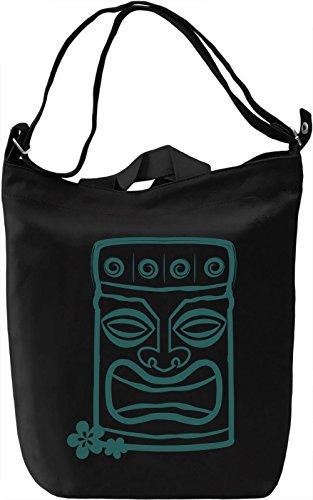 Tiki Borsa Giornaliera Canvas Canvas Day Bag| 100% Premium Cotton Canvas| DTG Printing|