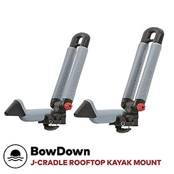 Image of Canoe & SUP Racks YAKIMA - BowDown Rooftop Mounted Kayak Rack for Vehicles, Carries 1 Kayak or Boat
