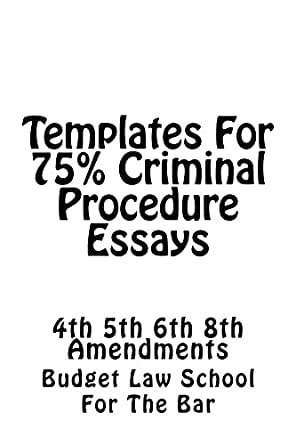 criminal procedure paper Criminal procedure outline in god i trust v the idea of due process o constitutional decision making § duncan v louisiana facts: ∆ convicted for simple battery without a jury trial simple battery carried a.