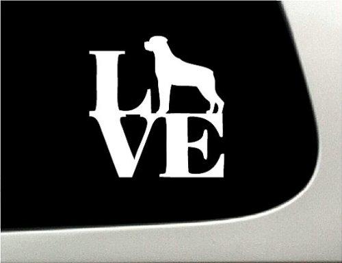 LOVE rottweiler Dog Puppy Text Vinyl Car Sticker Symbol Silhouette Keypad Track Pad Decal Laptop Skin Ipad Macbook Window Truck Motorcycle