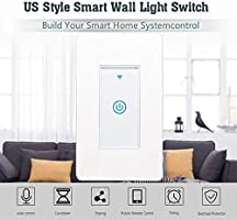 Lesgos - Interruptor de luz Inteligente con WiFi, Control táctil inalámbrico Compatible con Alexa/Google Home/IFTTT para Calentador de Agua, Aire Acondicionado, Toma de Pared, cafetera y panificadora: Amazon.es: Hogar