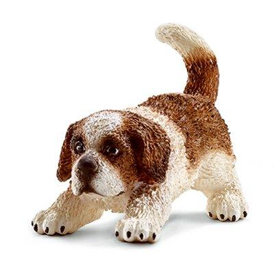 Schleich 16834 Saint Bernard Puppy Figurine, Brown & White