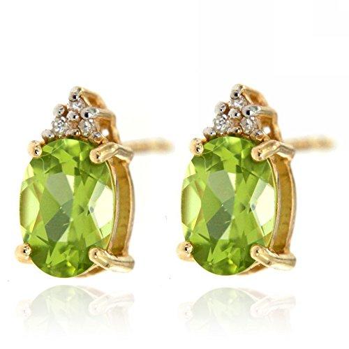 Gold Gemstone Diamond Earrings Birthstone