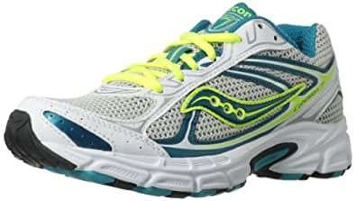 Saucony Women's Cohesion 7 Running Shoe,White/Teal/Silver,5 M US