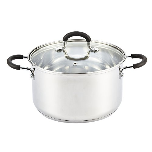 Cook N Home 5 Quart Stainless Steel Stockpot With Lid (Steel Stainless Direct Vent)