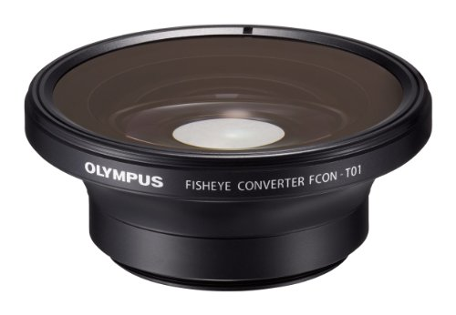 Olympus Fisheye Tough Lens Pack (lens and adapter) for TG-1, TG-2, and TG-3 Cameras (Black with Red Adapter) - International Version (No Warranty) by Olympus