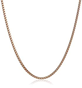 14k Rose Gold Italian Franco 1mm Chain Necklace, 19.75""