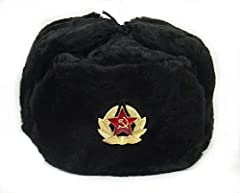 This hat is very warm and made of artificial fur. This material is very strong and durable. The hat has flaps on the side and back that comes down to cover your ears and neck. Such hats were first used by Russian troops during WW2 to help the...