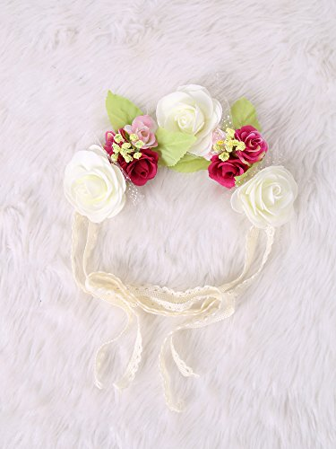 Festival Boho Hippy Hair Head Band/ Rose Crown/Bohemian style (Diy Hippy Costume)