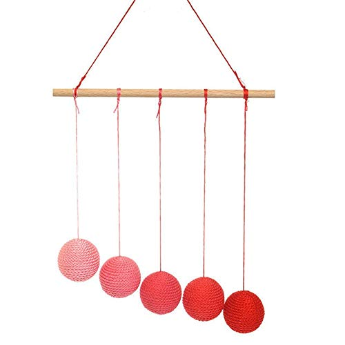 Tangyongjiao Home Decorative Supplies Montessori DIY Visual Practice Charm Birth Baby Gradient Color Paste Ball Hanging Gobbi(Green) (Color : Red) by Tangyongjiao