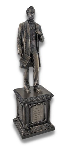 Veronese Bronzed Abraham Lincoln on Pedestal Statue for sale  Delivered anywhere in USA