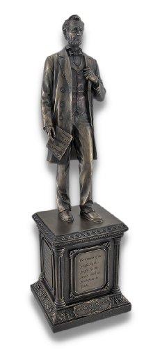 Veronese Design Bronzed Abraham Lincoln on Pedestal Statue