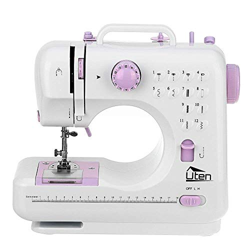 Portable Sewing Machine 2 Speed 12 Stitches Double Thread Needle Overlock Sewing Machine