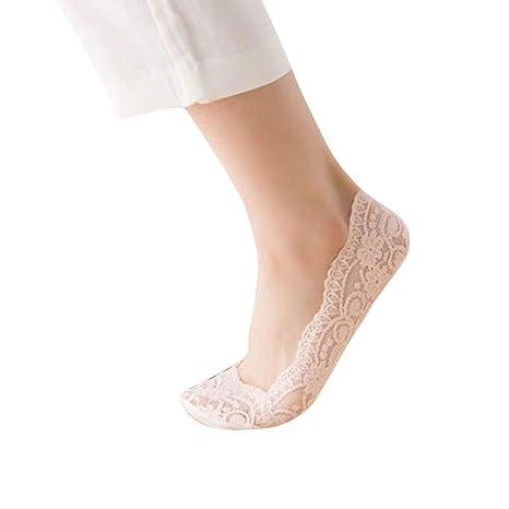2019 Descuento Calcetines Ciclismo Moda Para Mujer Mezcla De Algodón Antideslizante Invisible Corte Bajo Calcetines Toe Tobillo Calcetín: Amazon.es: Ropa y ...