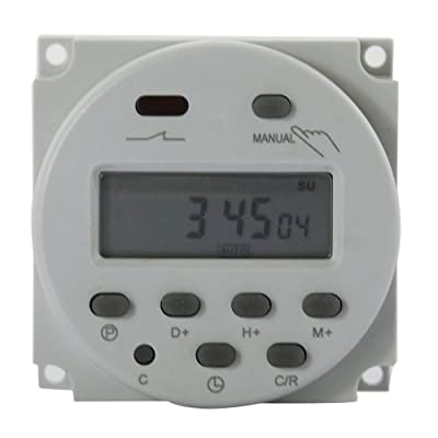 Digital Timer LCD Programmable Time Relay Switch for Electrical Outlets, Support 17 On/Off Programs Daily Weekly, White