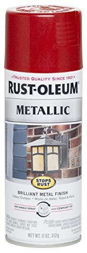Rust-Oleum 7256830 Stops Rust Metallic Spray Paint, 11 oz, Apple Red (Candy Spray Paint)