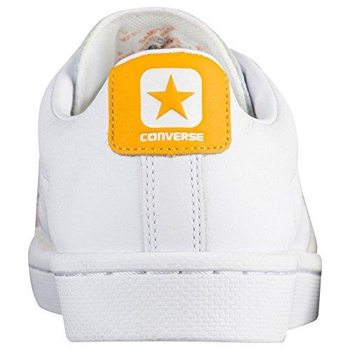 Converse Unisex Pro Cuir 76 Blanc Ox / Blanc / Jaune 155322c
