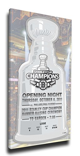 NHL Boston Bruins 2011 Stanley Cup Champions Banner Raising Mega Ticket