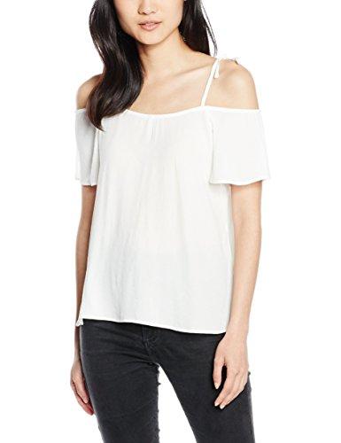 ONLY Damen T-Shirt Onlmojo Solid S/S Off Shoulder Top Wvn, Weiß (Cloud Dancer), 36