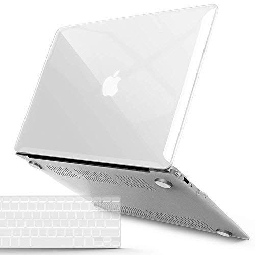 iBenzer MacBook Air 13 Inch Case, Soft Touch Hard Case Shell Cover with Keyboard Cover for Apple MacBook Air 13 A1369 1466 NO Touch ID, Crystal Clear, MMA13CYCL+1