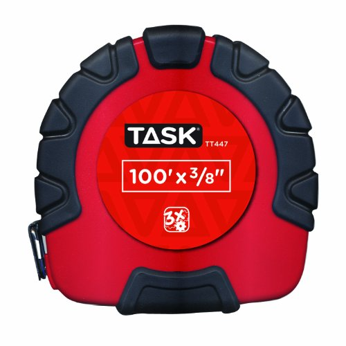 Task Tools TT447 100-Feet Long Tape, Rubber Grip with  3X Gear Drive by Task Tools (Image #1)
