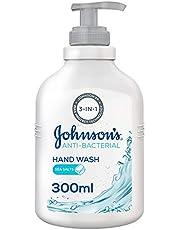 JOHNSON'S Liquid Hand Wash, Anti-Bacterial, Sea Salts, 300ml