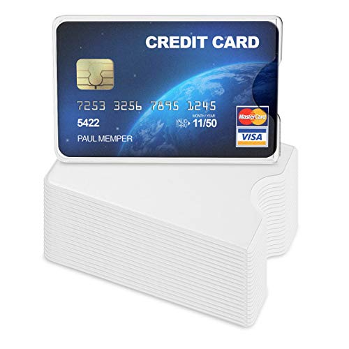 kwmobile 20 Pieces Credit Card Sleeves - Transparent ID Business Card Holder - Identification Social Security SSN Cards Protector Inserts