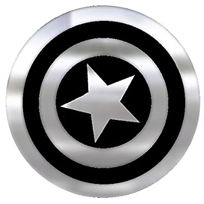Marvel Captain America Shield Emblemz Chrome Decal: Toys & Games