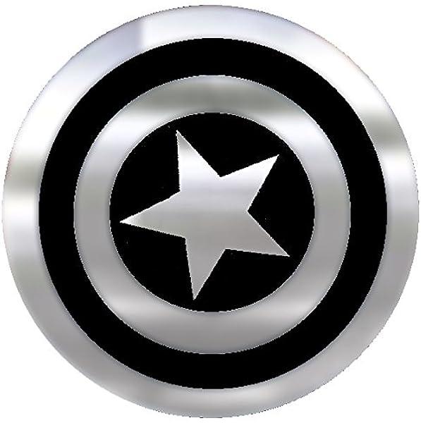 Amazon Com Marvel Captain America Shield Emblemz Chrome Decal Toys Games