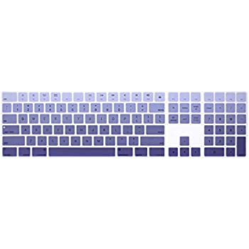 292be9012cb HRH Ombre Dark Purple Silicone Keyboard Cover Keypad Skin for Apple Magic  Keyboard with Numeric Keypad A1843 MQ052LL/A Released in 2017 (US Layout)