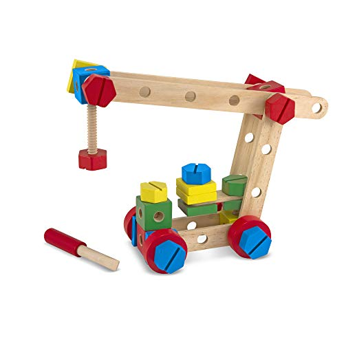 Melissa & Doug Wooden Construction Building Set in a Box (48 -