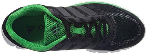 adidas Performance Breeze 202 2, Chaussures de running homme Noir (Black 1/Black 1/Vivid Green S14)