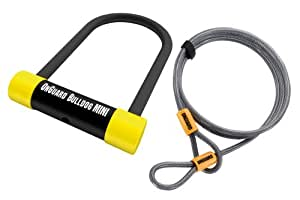 OnGuard Bulldog MINI DT 5015TC Bicycle U-Lock and Extra Security Cable