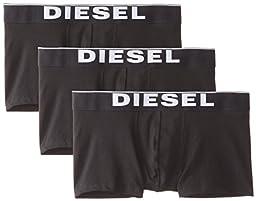 Diesel Men\'s Essentials 3-Pack Kory Boxer Trunk, Black, Medium