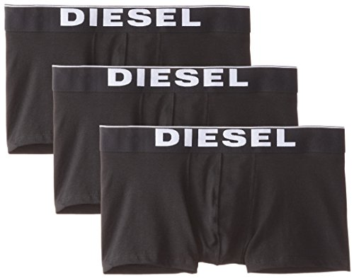 Diesel Mens Briefs - Diesel Men's Essentials 3-Pack Kory Boxer Trunk,New Black,M