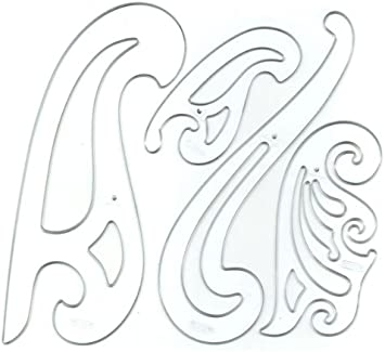 3-piece French Curves Template French Curve Set Templates Flexible Plastic