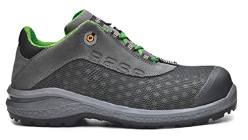Base bo879Shiny S1P Mens antideslizante seguridad 16oz Trainer Zapatos gris