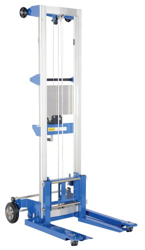 "Vestil A-LIFT-S-EHP Adjustable Straddle Hand Winch Lift Truck, 42-1/2"" Length, 43-1/4"" Width, 80"" Height, 350 lbs Capacity from Vestil"