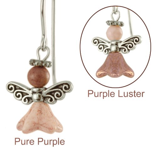 Purity of Purpura Angel Earrings -