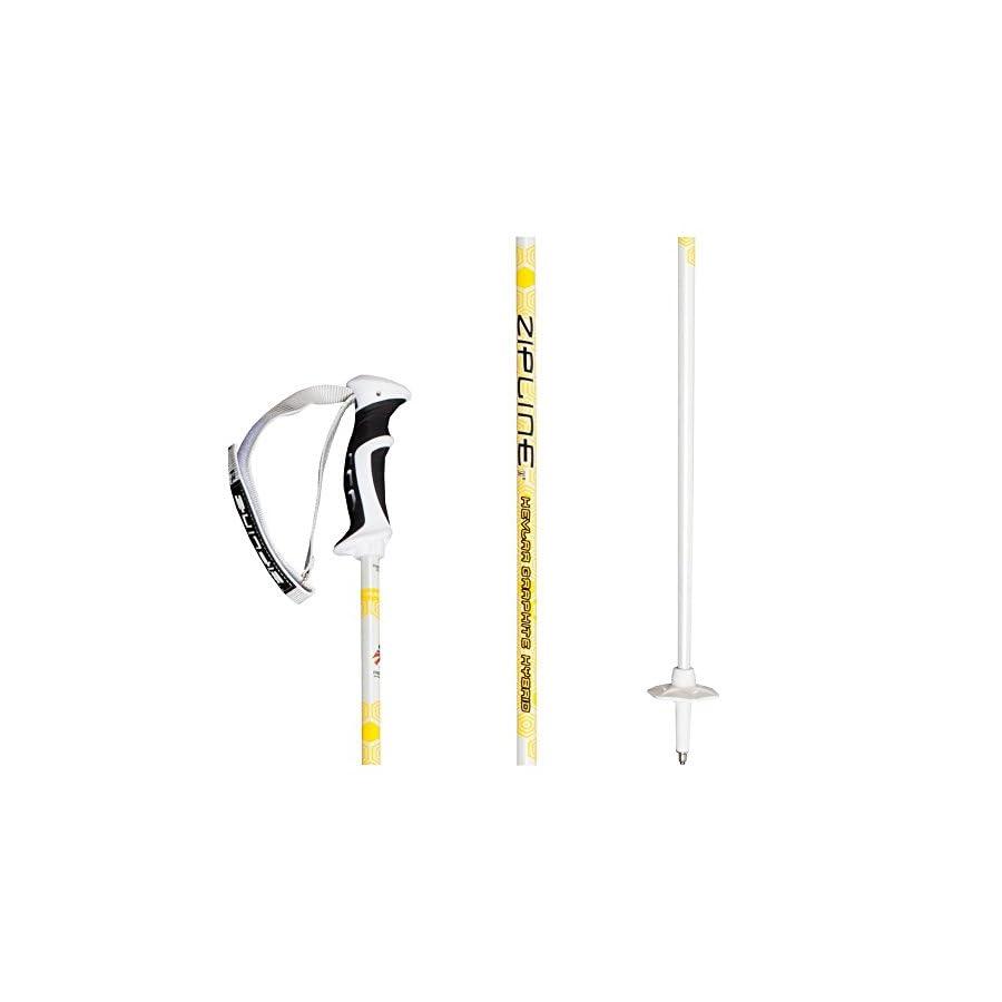 Zipline Ski Poles Kevlar Graphite Hybrid Composite Podium 14.0 K U.S. Ski Team Official Supplier