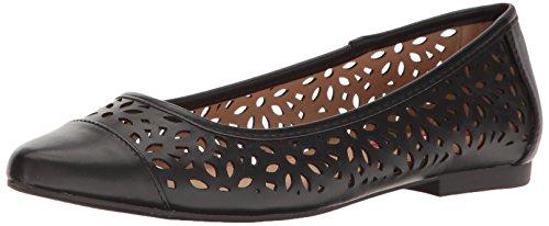 UNIONBAY Women's Willis Pointed Toe Flat Black